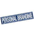 personal branding square grunge stamp vector image vector image