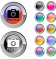Photos multicolor round button vector image