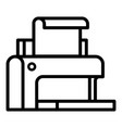 plastic printer icon outline style vector image vector image
