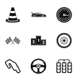 Race cars icons set simple style vector image vector image