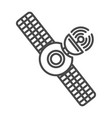 radio broadcasting satellite linear icon vector image vector image