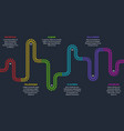 railroad tracks railway timeline tracking subway vector image