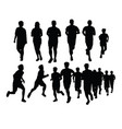 running activity silhouettes vector image