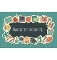 School vintage seamless background vector image