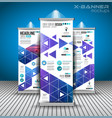 set advertisement roll up business flyers or vector image