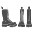 set black and white with boots vector image vector image