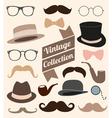 set collection vintage fashion elements vector image