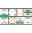 Set ornament of eight cards with decorative vector image vector image