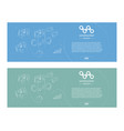set web banner in style business minimalism ready vector image
