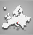slovenia country location within europe 3d map