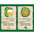 St Patrick's Day icons vector image vector image