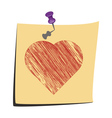 Sticky Note Love You vector image