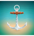 summer holiday with triangle anchor vector image