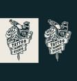 tattoo studio emblem vector image vector image