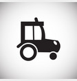 tractor on white background vector image