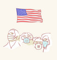 usa founding fathers flag hand drawn style vector image vector image