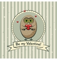 Valentines day greeting card with owls vector image vector image