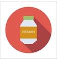 Vitamin flat icon vector image vector image