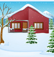 winter landscape with snow vector image vector image