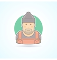 Worker repairman master icon vector image vector image