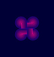 line closed logo vector image