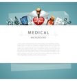 Blue Medical Background with Copy Space vector image