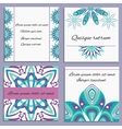 Set ornament invitation with isolated decorative vector image