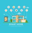 smart home concept automation concept vector image