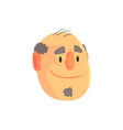 mature balding man face avatar positive male vector image