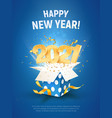 2021 happy new year xmas vector image