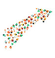a top view at crowd people men and women vector image vector image