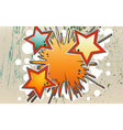 Abstract background of explosion stars in graffity vector image vector image