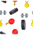 Accessories for training pattern cartoon style vector image vector image