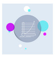 arrow chart curve experience goal white line icon vector image vector image