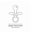 Baby nipple line icon vector image
