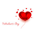 balloon red heart happy valentines day background vector image