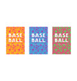 baseball notebook template set vector image