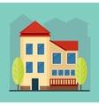 beige house in city vector image vector image