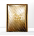 bubble wrap mailer bag packaging gold vector image vector image