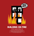 Building On Fire vector image vector image