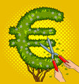 bush in the form of euro sign pop art vector image