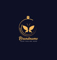 butterfly perfume logo design vector image vector image