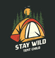 camping graphic for t-shirt prints vintage hand vector image vector image