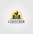 chicken farm on fence logo design livestock vector image vector image