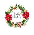 Christmas wreath with slogan golden elements