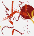 contrast red grey yellow grunge splash vector image vector image