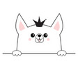 corgi dog happy face head icon hands paw holding vector image