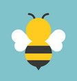 cute bee icon flat design vector image vector image