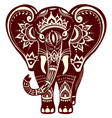 Decorated stylized elephant vector image vector image