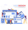 development of mobile websites vector image vector image